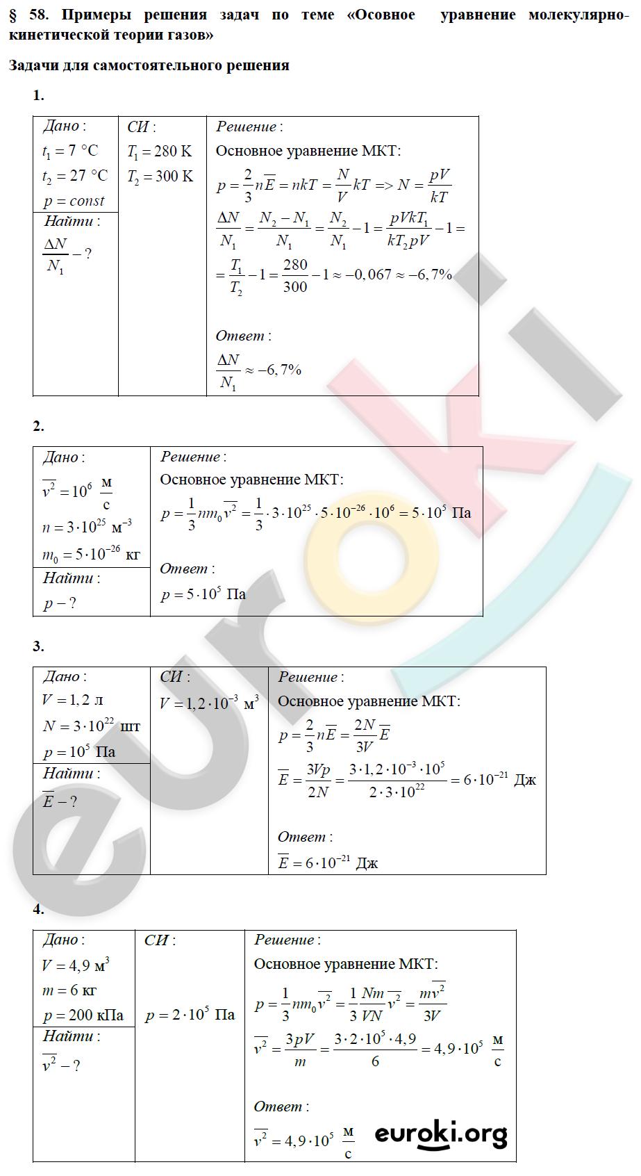 Физика 10 класс решение задач мкт бизнес помощь студенту