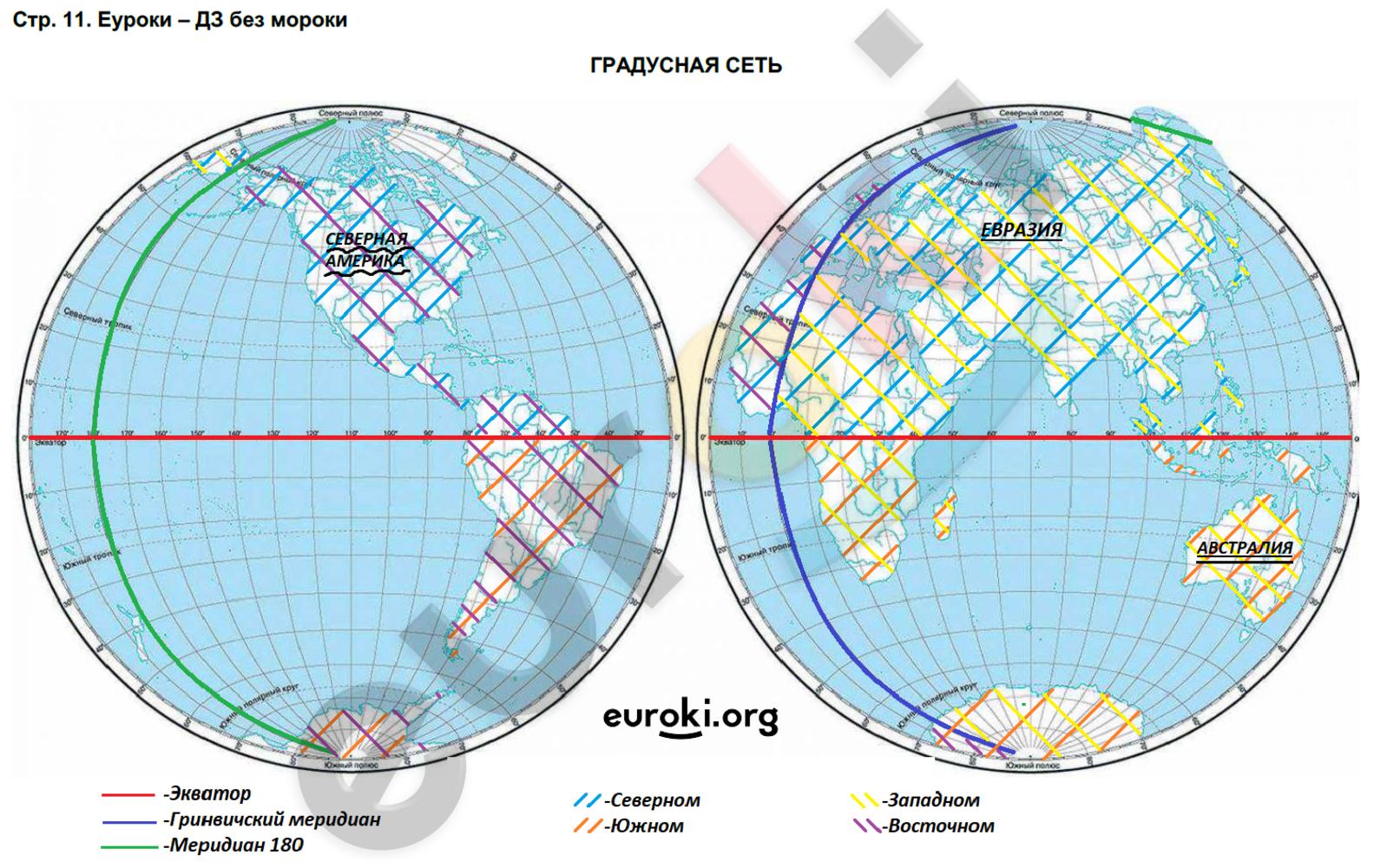 ГДЗ по географии 5 класс контурные карты Румянцев. Задание: стр. 11