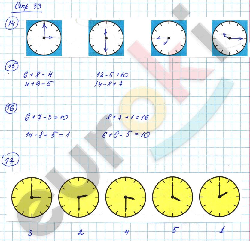 ГДЗ по математике 2 класс рабочая тетрадь Моро, Волкова Часть 1, 2. Задание: стр. 33