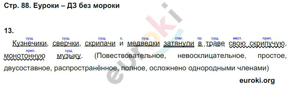 ГДЗ по русскому языку 7 класс рабочая тетрадь Малюшкин. Задание: стр. 88