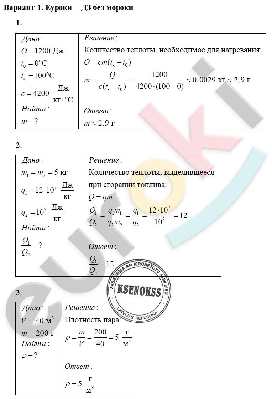 Решение задач 8 класс тепловые явления химические задачи с решениями 8 класс