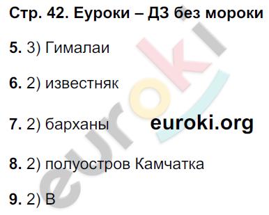 ГДЗ по географии 5 класс тетрадь экзаменатор Барабанов. Задание: стр. 42