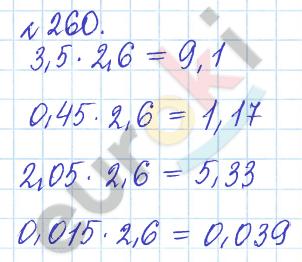 ГДЗ по математике 6 класс задачник Бунимович, Кузнецова. Задание: 260