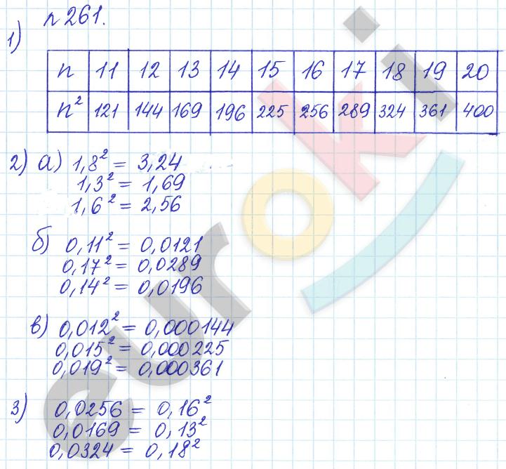ГДЗ по математике 6 класс задачник Бунимович, Кузнецова. Задание: 261