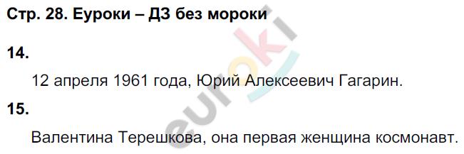 ГДЗ по окружающему миру 4 класс самостоятельные работы Чуракова, Трафимова. Задание: стр. 28