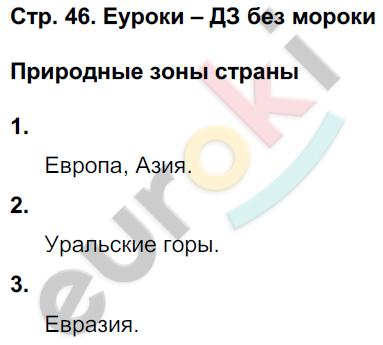 ГДЗ по окружающему миру 4 класс самостоятельные работы Чуракова, Трафимова. Задание: стр. 46