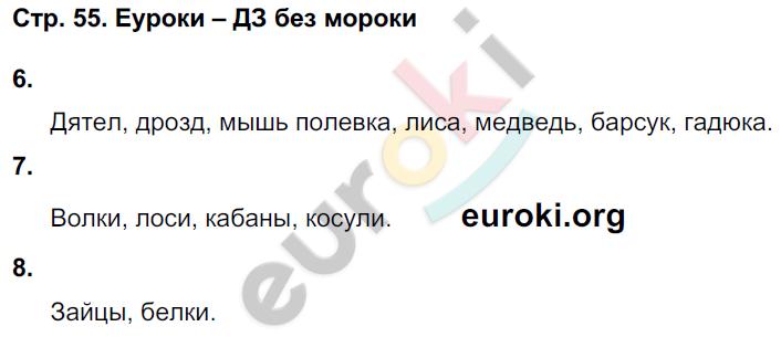 ГДЗ по окружающему миру 4 класс самостоятельные работы Чуракова, Трафимова. Задание: стр. 55