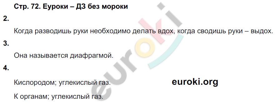 ГДЗ по окружающему миру 4 класс самостоятельные работы Чуракова, Трафимова. Задание: стр. 72