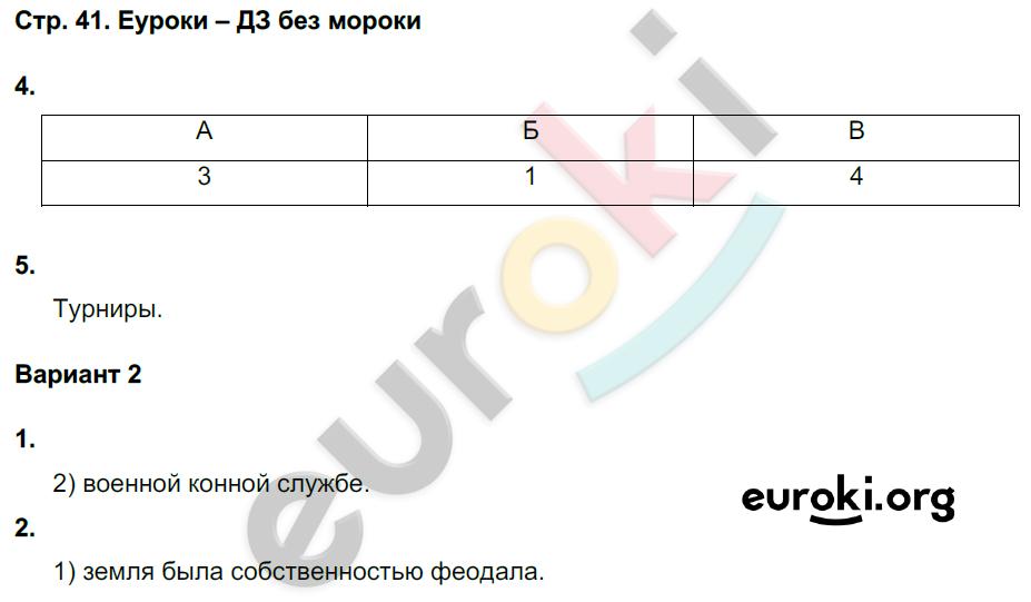 ГДЗ по истории 6 класс рабочая тетрадь Чернова. Задание: стр. 41