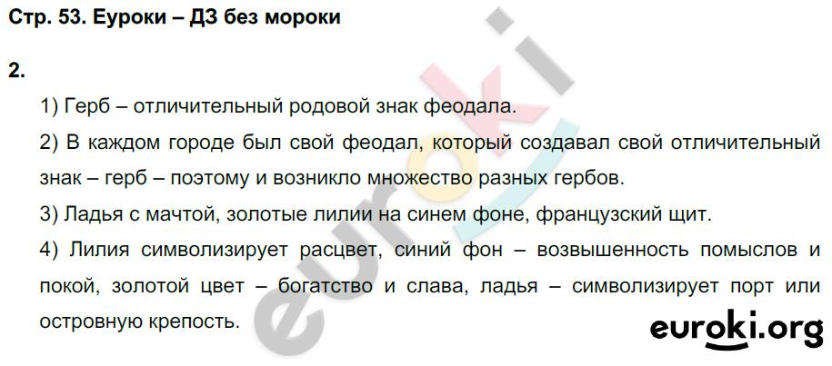 ГДЗ по истории 6 класс рабочая тетрадь Чернова. Задание: стр. 53