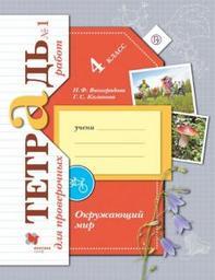 Тетрадь для проверочных работ по окружающему миру 4 класс Часть 1, 2 Виноградова, Калинова Вентана-Граф